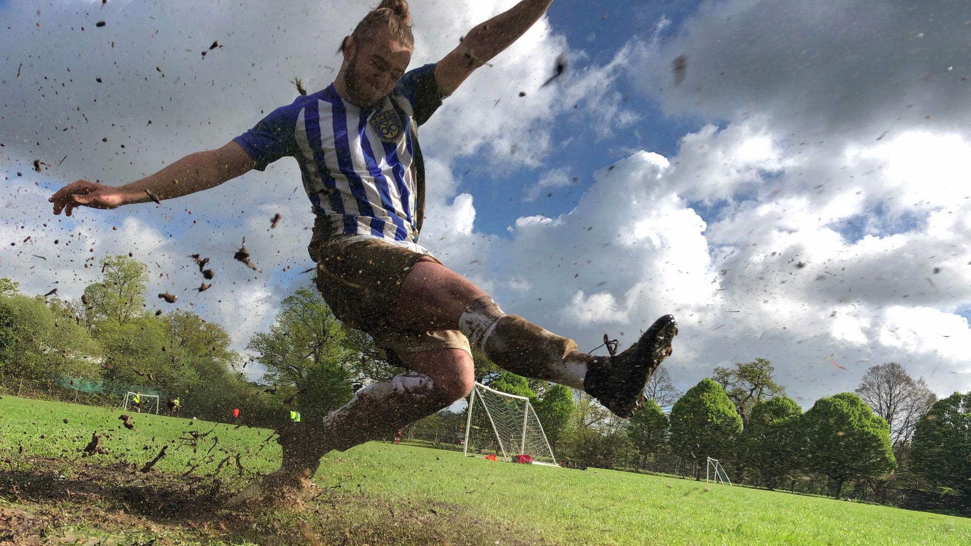 grass outdoor man person sport water sport jumping