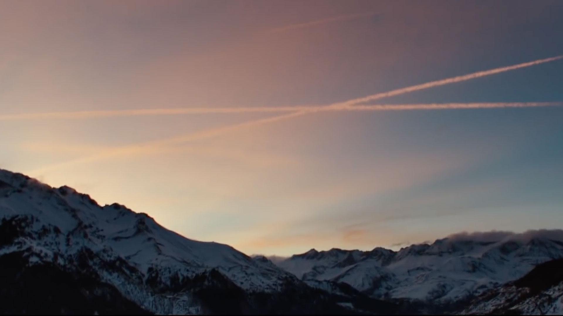 sky mountain outdoor snow cloud landscape nature sunrise sunset distance highland