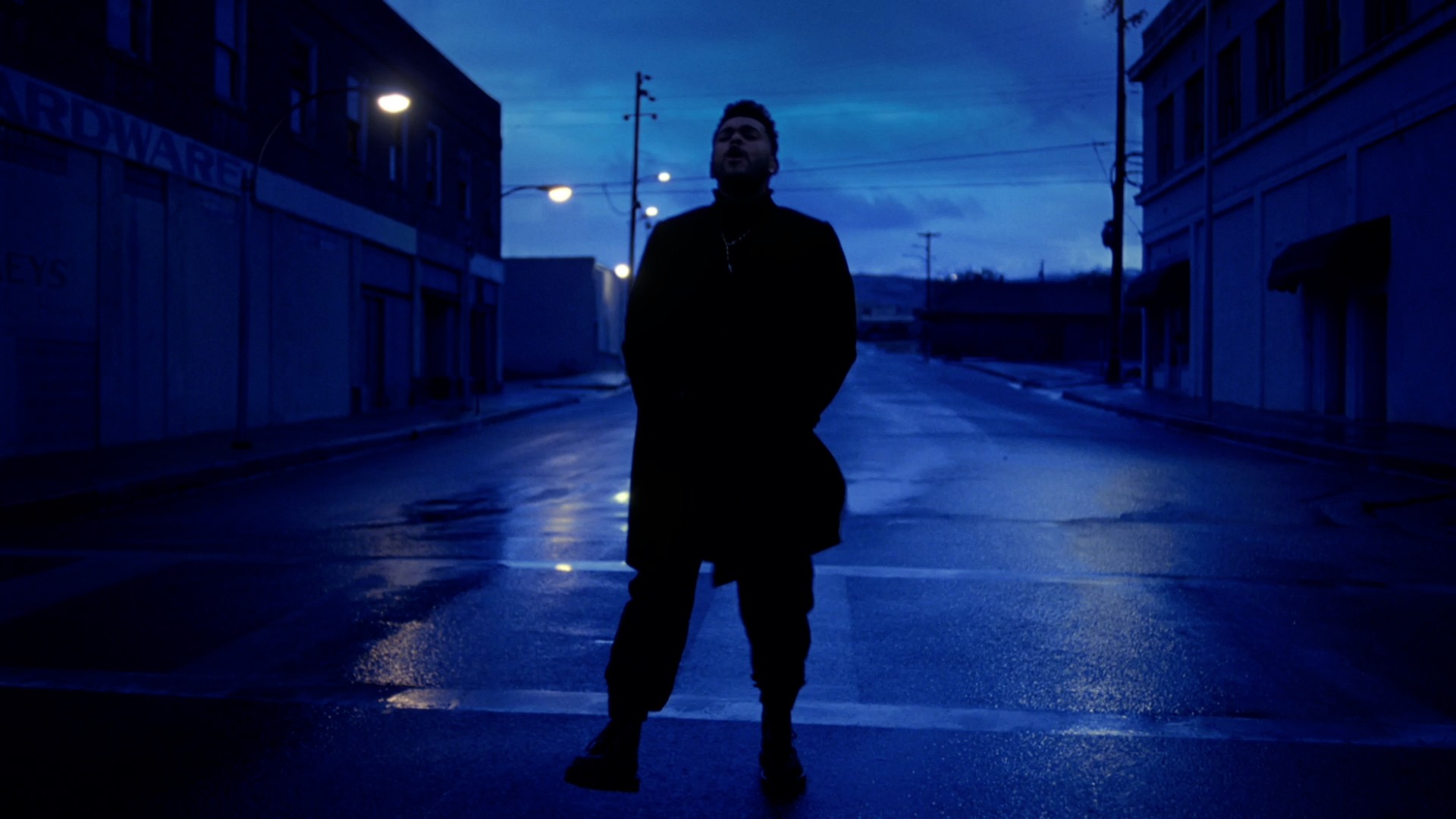 outdoor clothing street person man sky dark night