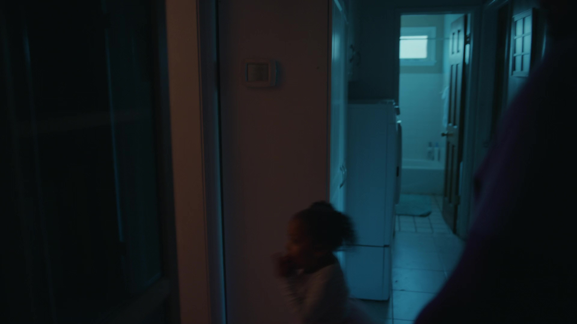 person indoor door